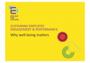 Sustaining Performance - Why Well-Being Matters Front Page
